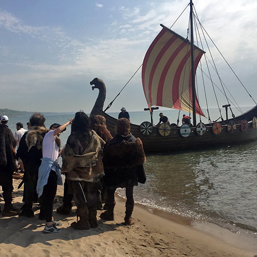 Photo of Sail for American Gods Movie Set