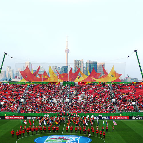 photo of Fifa Women's Cup ginormous banner