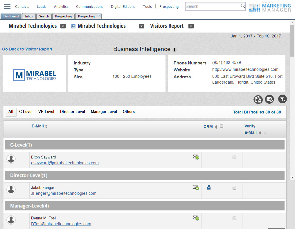 Lead Identification Software
