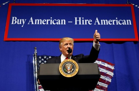 """New executive order signed: """"Buy American, Hire American"""""""""""