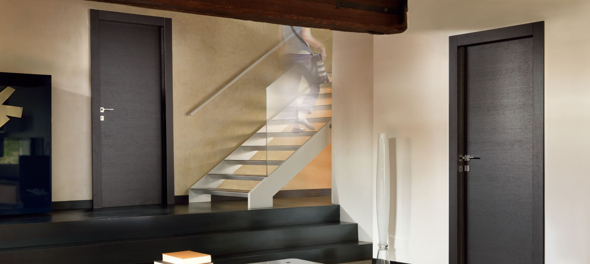 contemporary wood internal doors modern horizontal grain. Black Bedroom Furniture Sets. Home Design Ideas