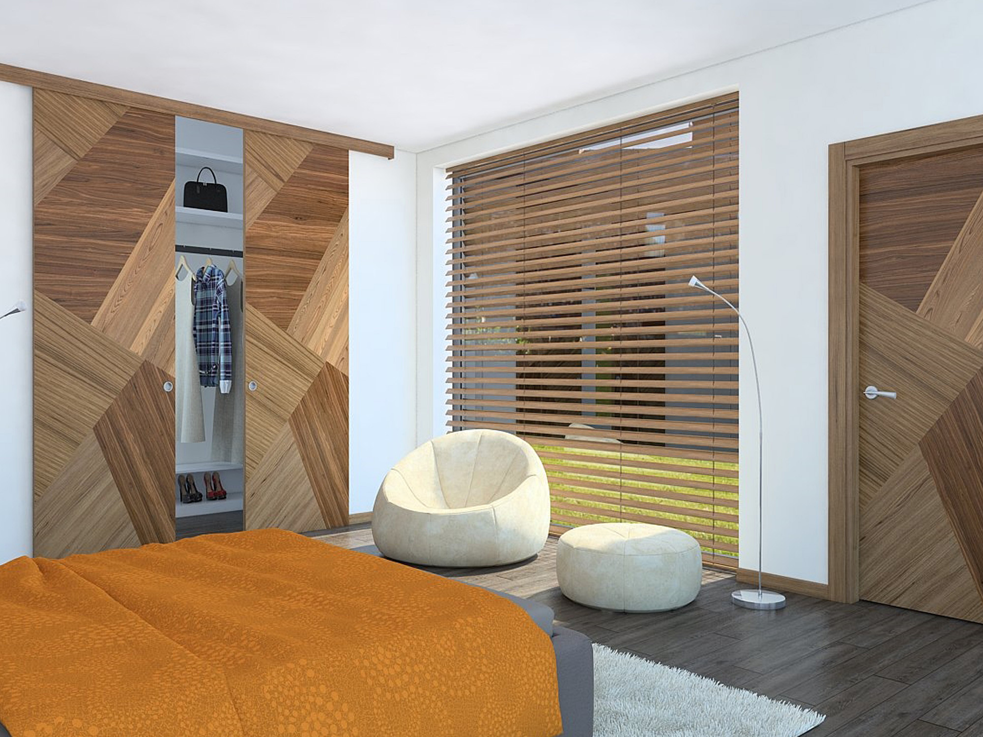 Goodwood Walnut & Custom made Wood Internal Doors | Modern Flush Walnut Wood Interior ...