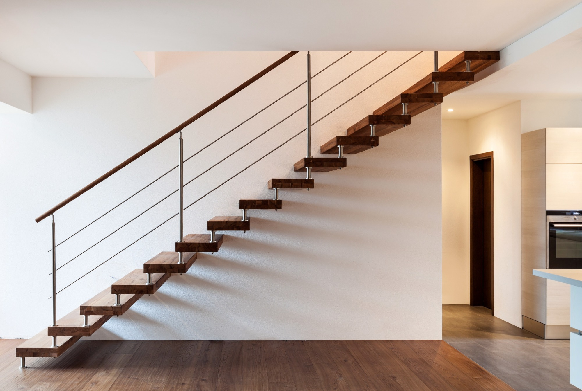 Wooden Cantilevered Staircase Hanging Staircase