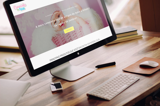 Imagem de website no desktop