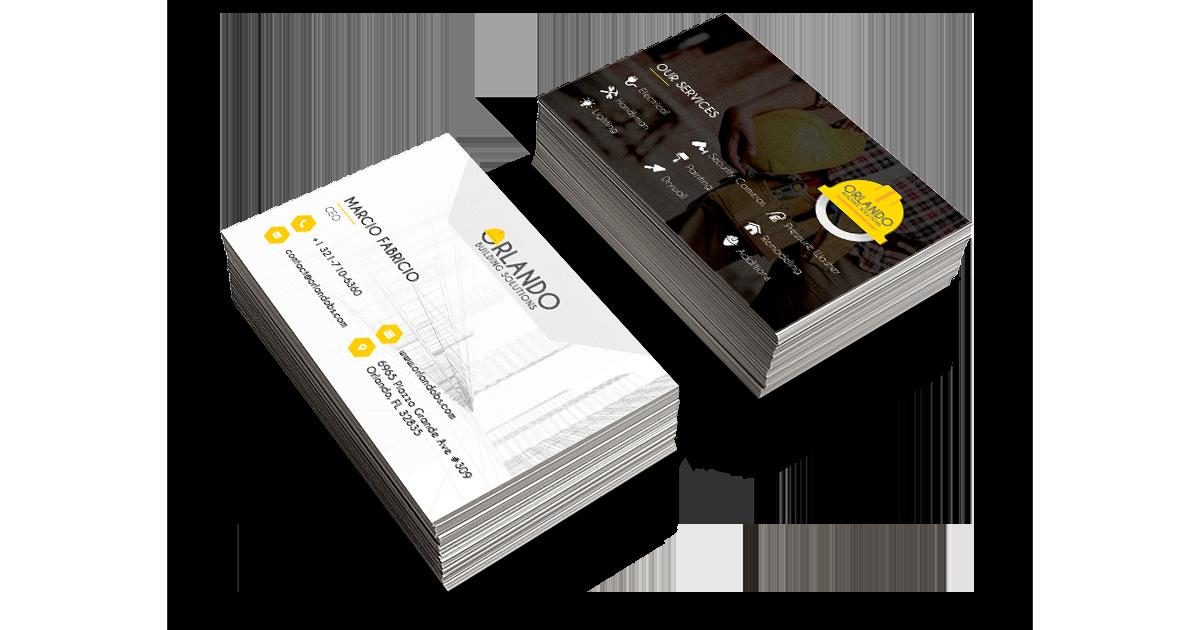 Cartão de Visita Orlando Building Solutions