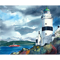 Cloch Lighthouse on River Clyde