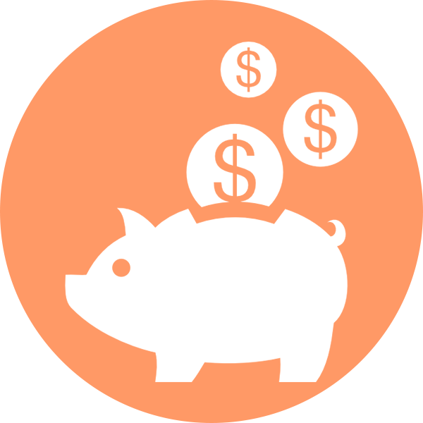 Bleen piggy bank pricing icon