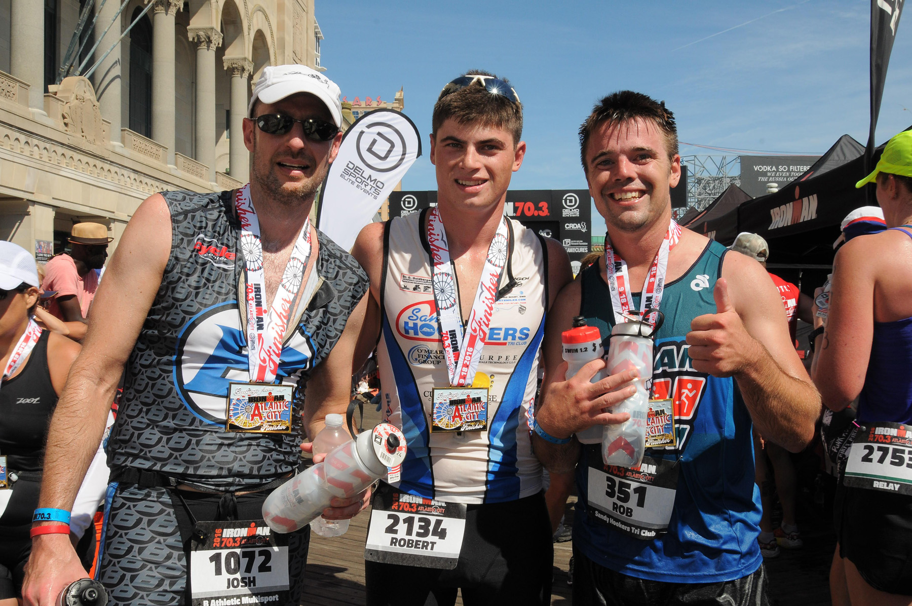 finishers trio - Ironman 70.3 Atlantic City
