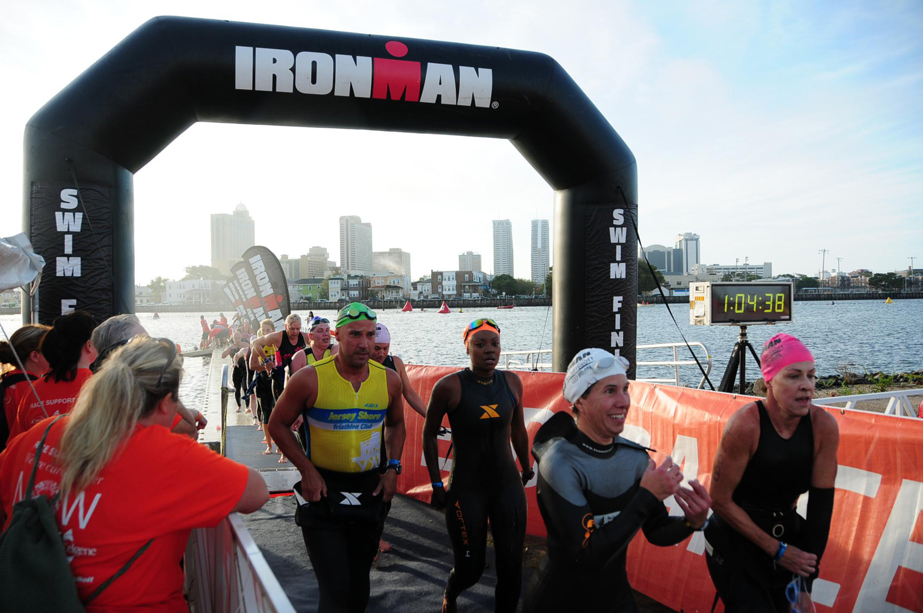 swim exit - Ironman 70.3 Atlantic City