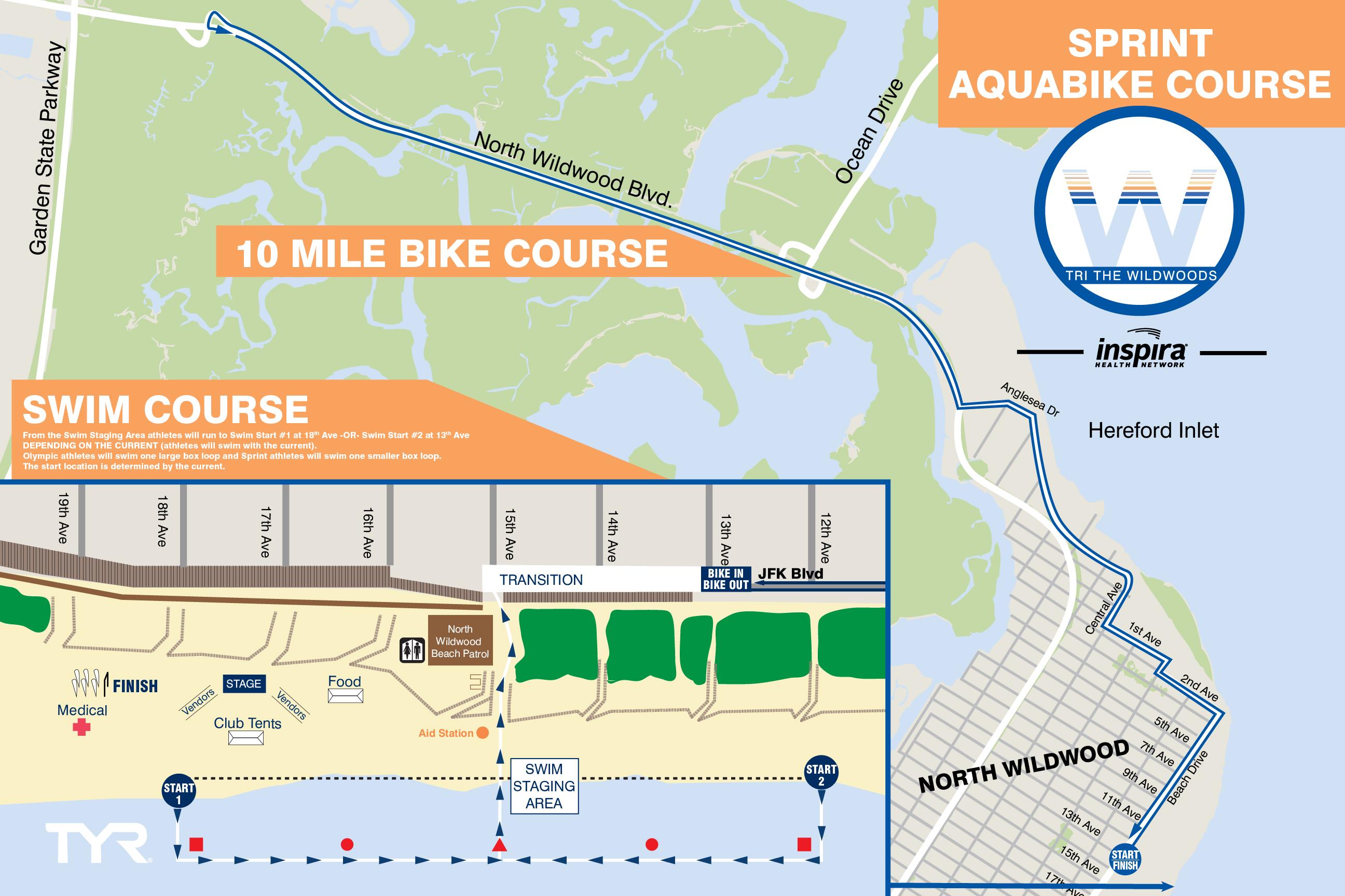 Aquabike Sprint Course