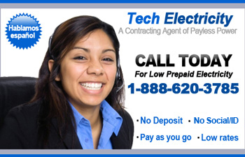 Contact Tech Electricity Prepaid Electricity 888-620-3785