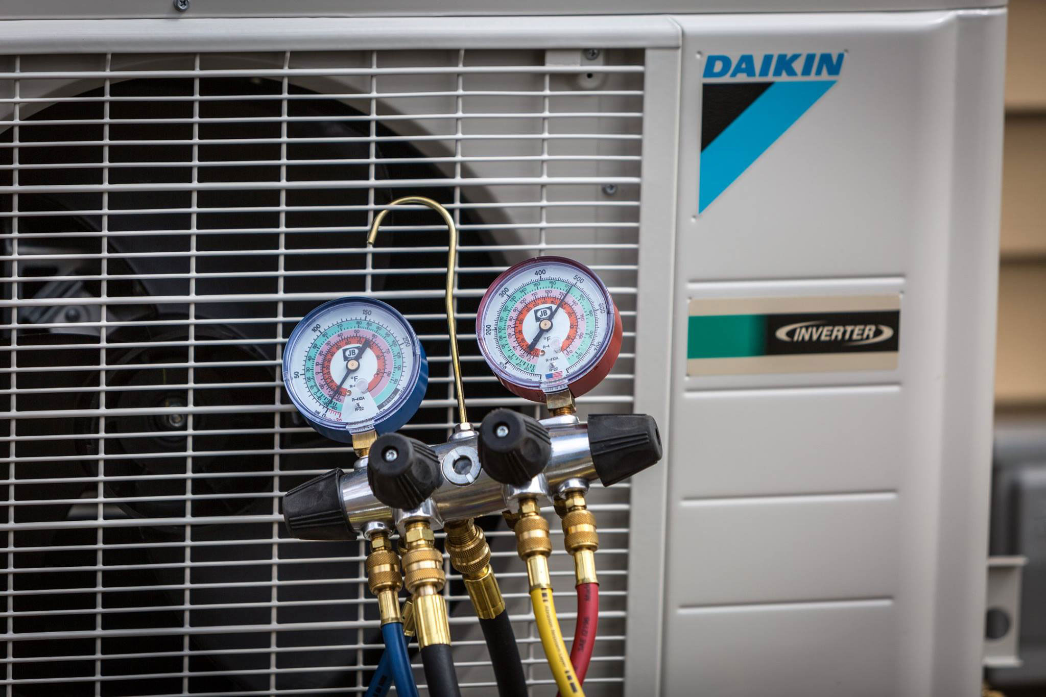 Daikin Heat Pump Close up