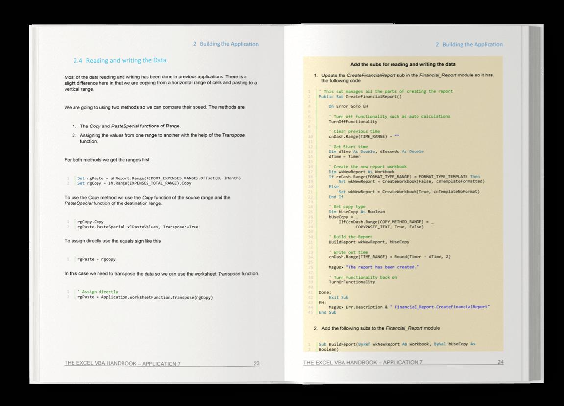 The Excel VBA Handbook - Webflow