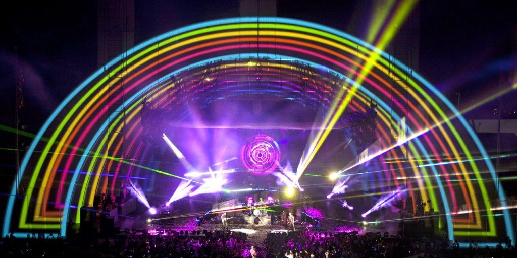 light show at a concert
