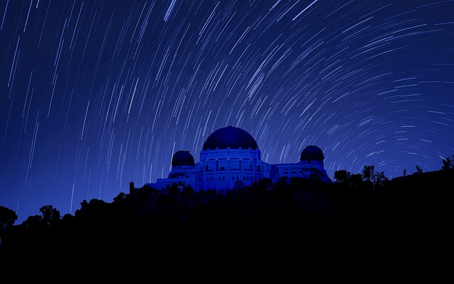 time-lapse shot of the griffith observatory