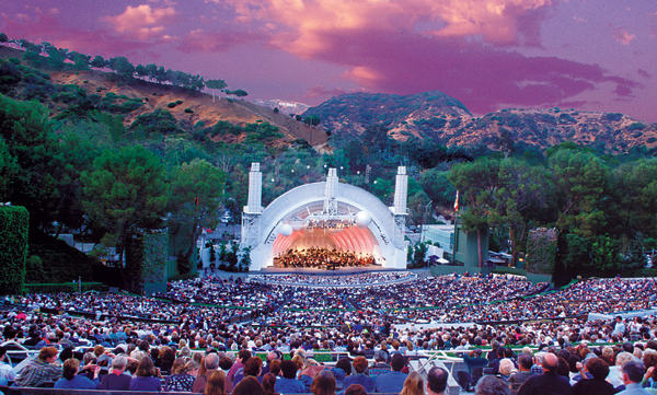 the hollywood bowl in a purple hue