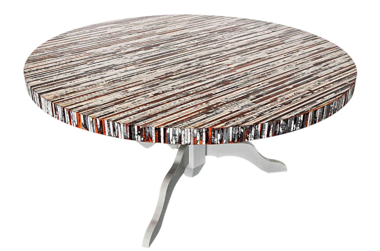 Nr ronde houten tafel antwerpenserie herfst ruiter