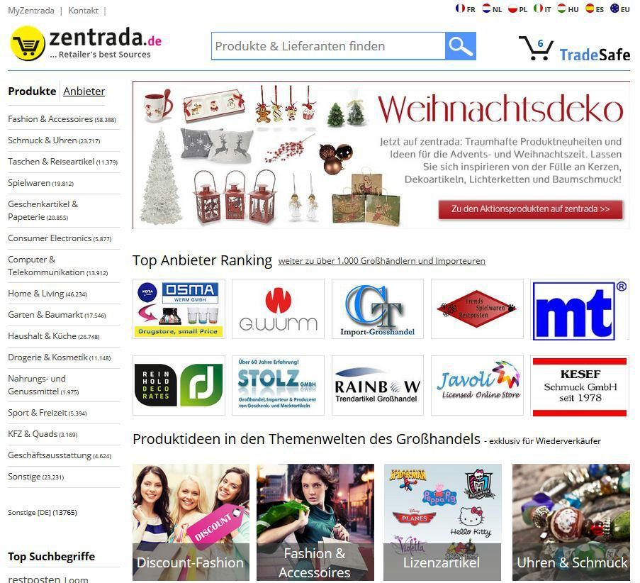 Pressecenter und mitteilungen zentrada tradesafe for Geschenkartikel katalog