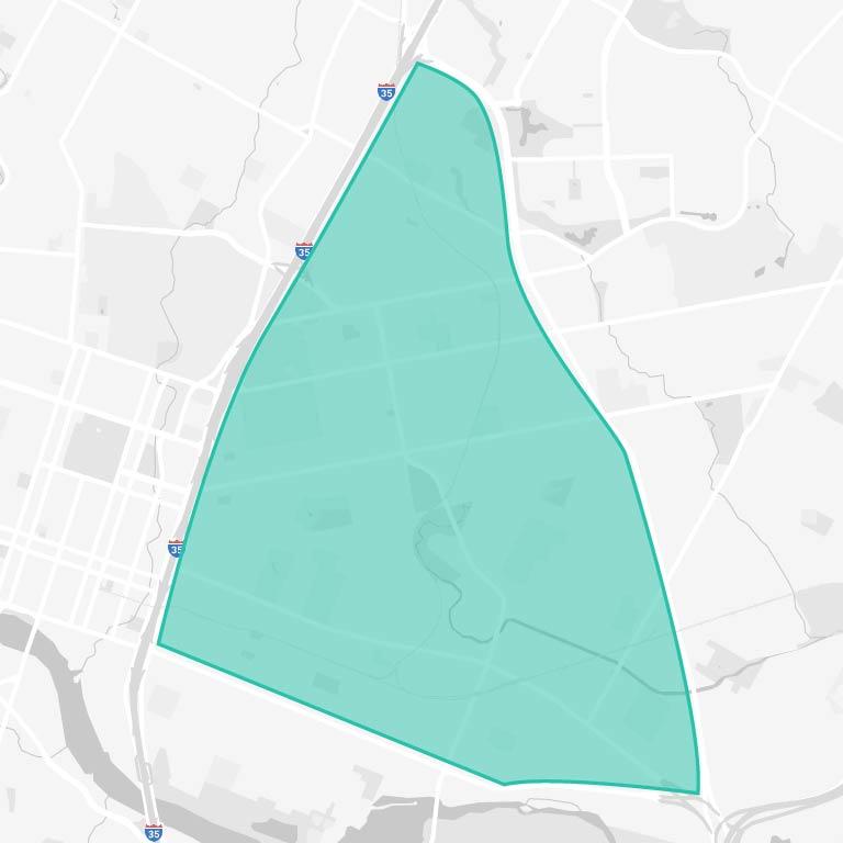 Eastside Austin Map
