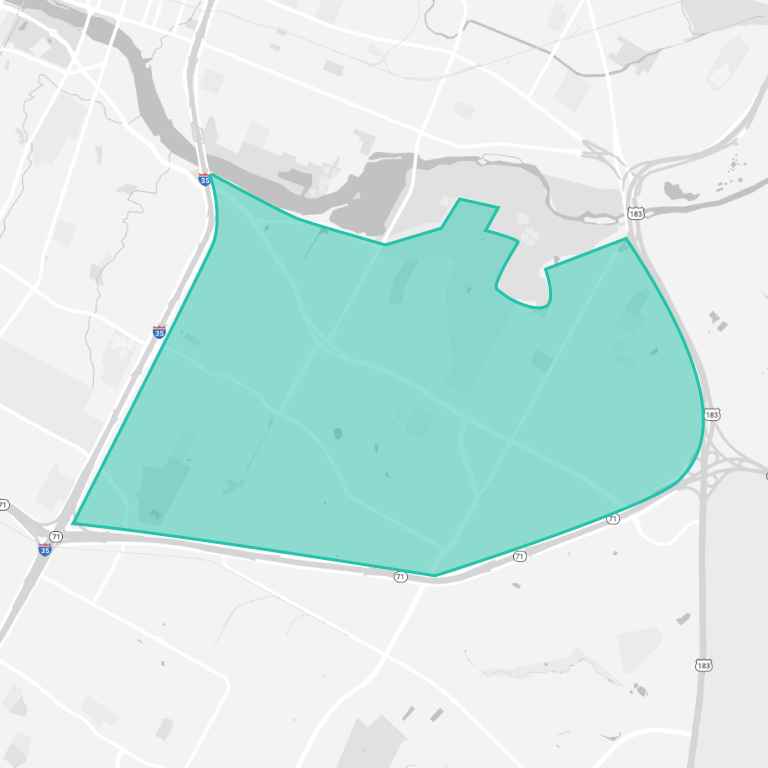 Riverside Austin Map