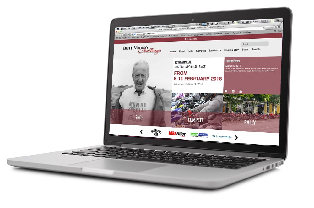 Burt-Munro-website-on-apple-macbook-pro