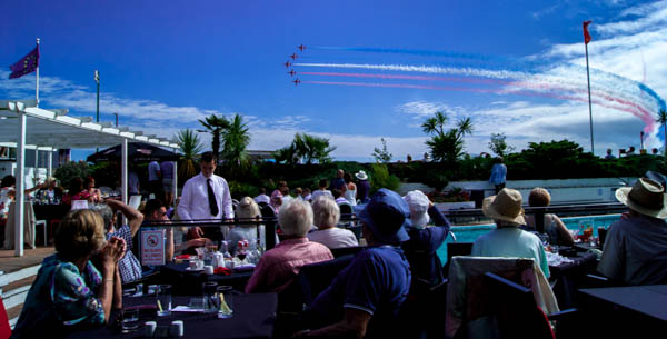 Front Row Seat view of Bournemouth Air Show from the Cumberland