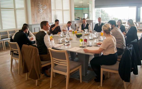 Boardroom meeting in sea view function room at the Ocean Beach