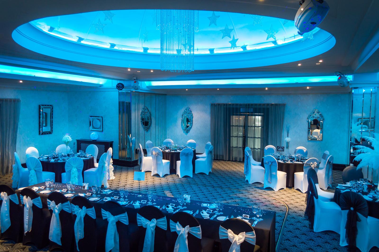 Cumberland Weddings changing colour LED to customise theme
