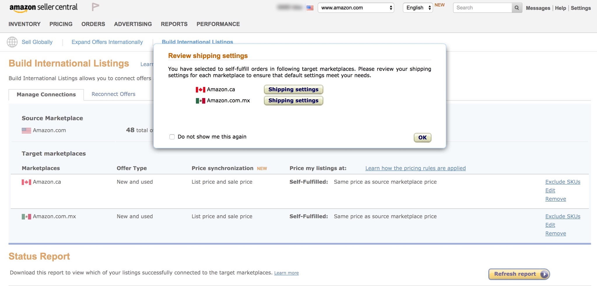 how to create amazon shop page product
