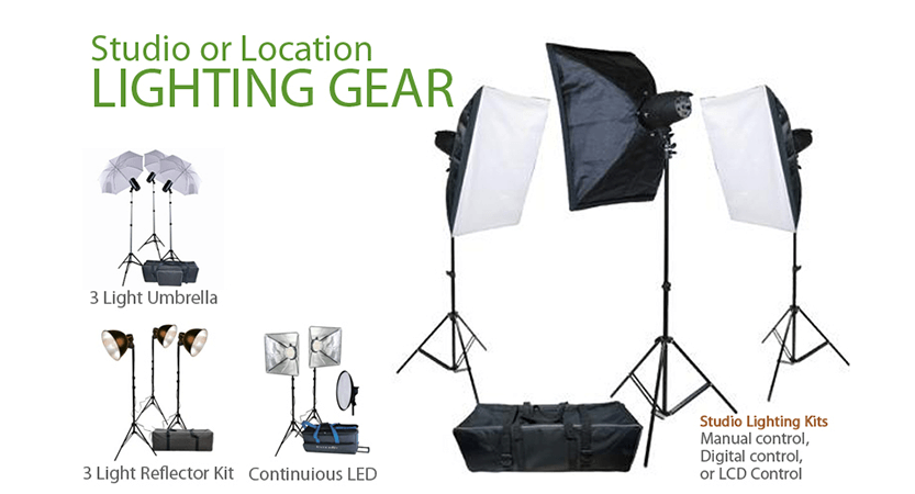 Studio or Location Lightning Gear