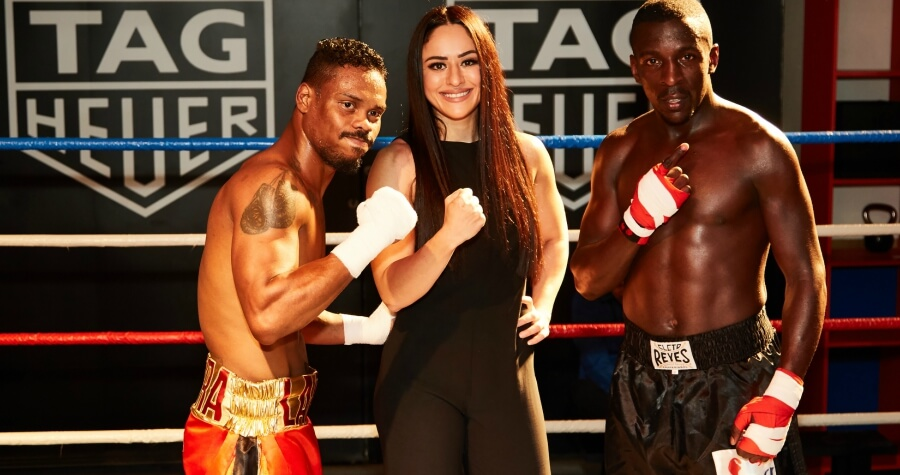 tag heuer in dubai boxing demonstration