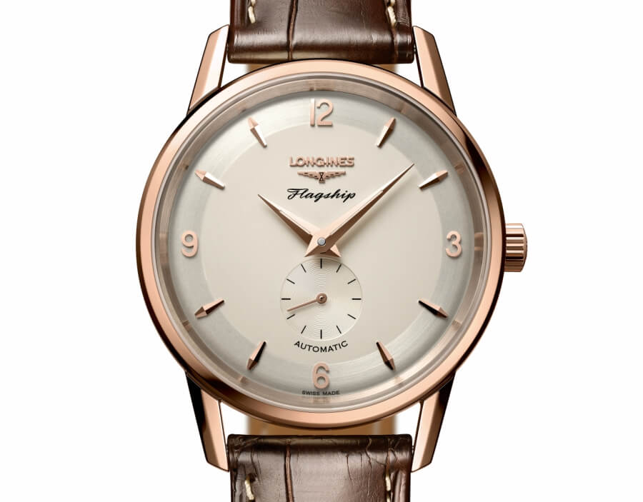 longines flagship heritage rose gold