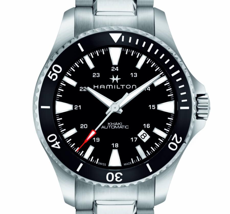 Hamilton Khaki Navy Scuba with black dial