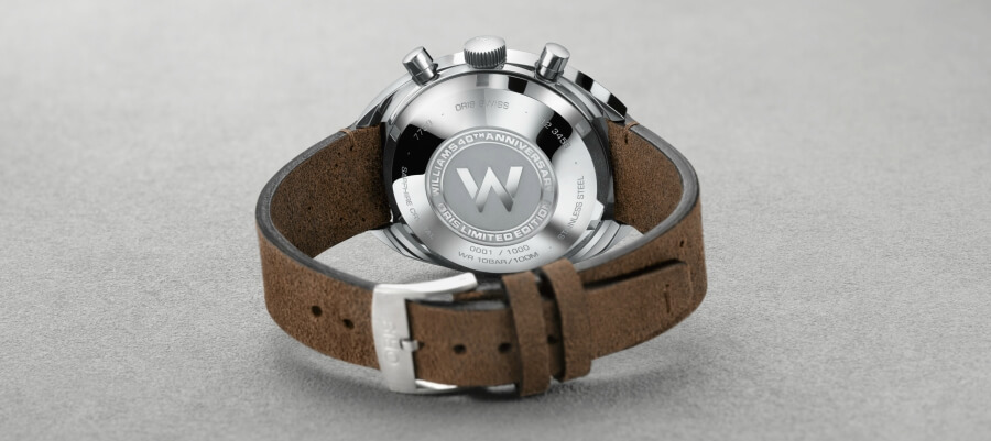 Williams 40th Anniversary Oris Limited Edition Case Back