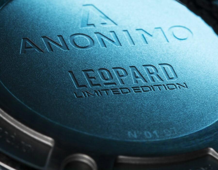 """Anonimo Nautilo """"Blue Leopard"""" caseback"""