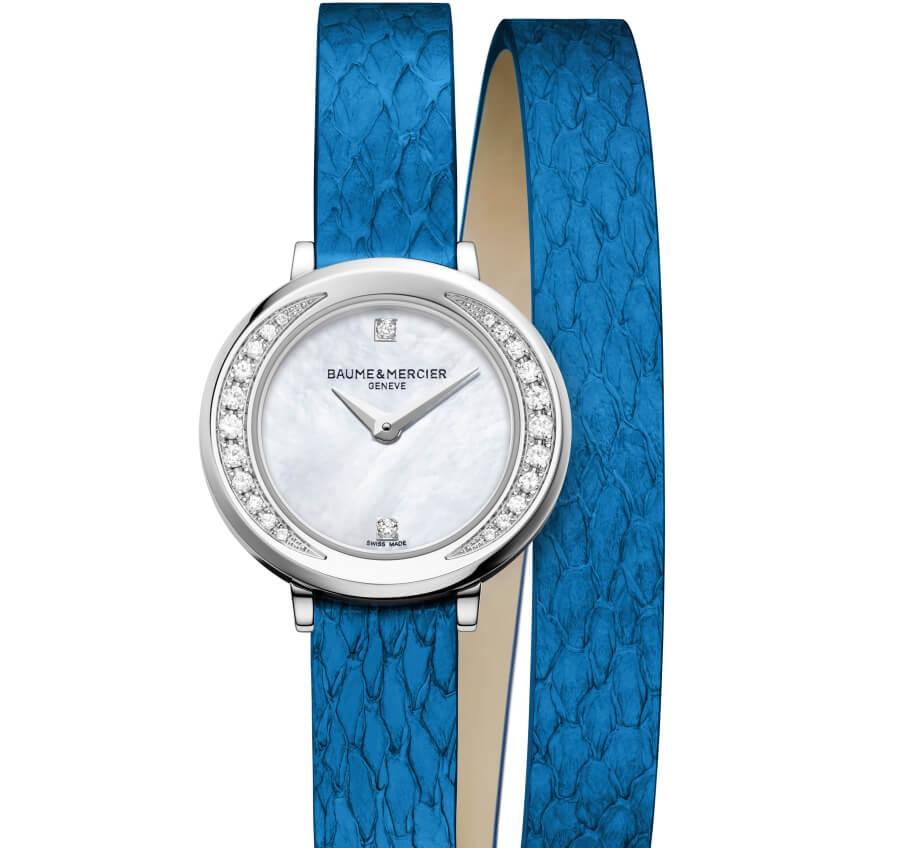 Baume et Mercier Banka leather Blue
