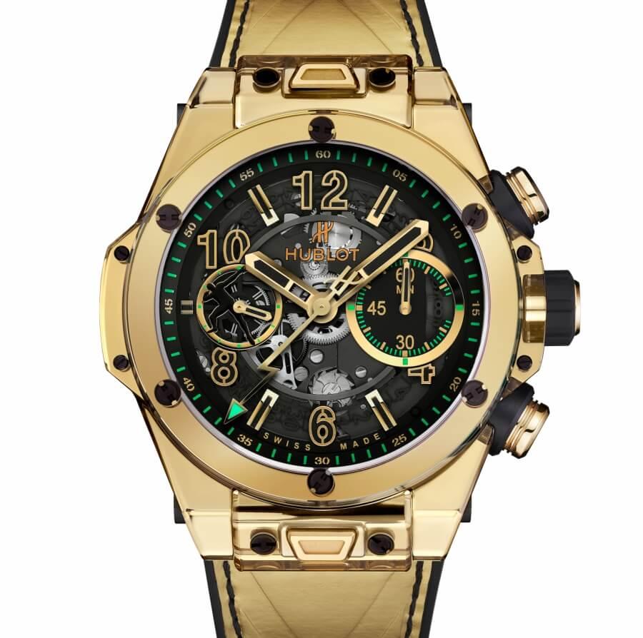 Hublot Big Bang Unico Shiny Gold Sapphire Usain Bolt