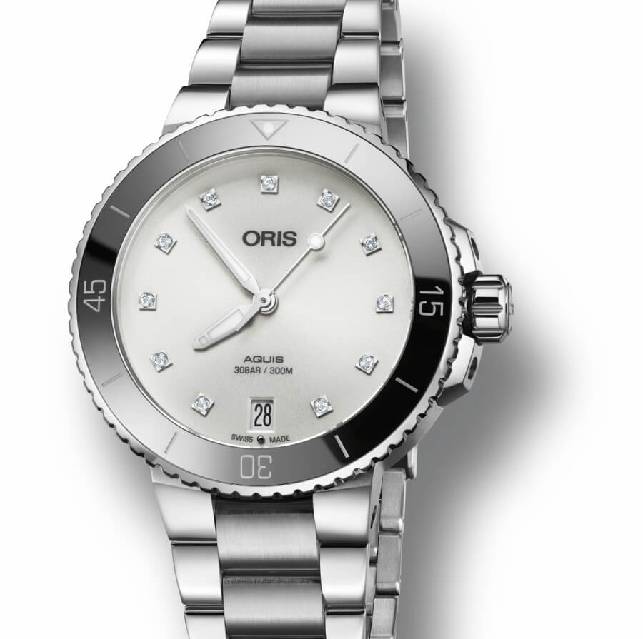 ‍The new Oris Aquis Date Diamonds