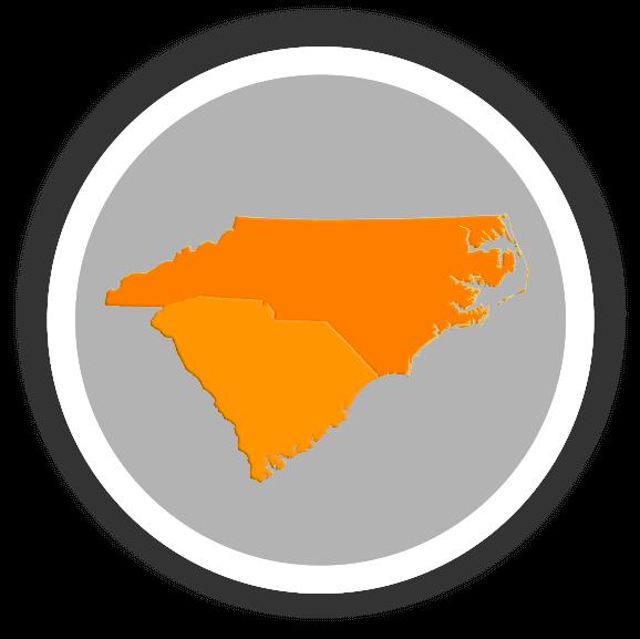 Orange North and South Carolina Maps