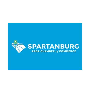 spartanburg area chamber logo blue and white