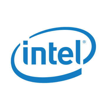 blue and white intel logo