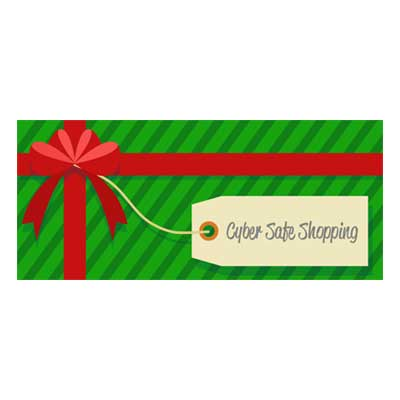christmas present with cyber safe tag