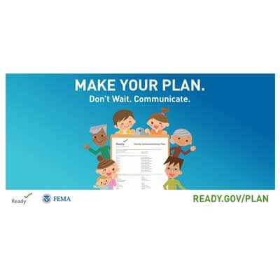 FEMA make your plan image