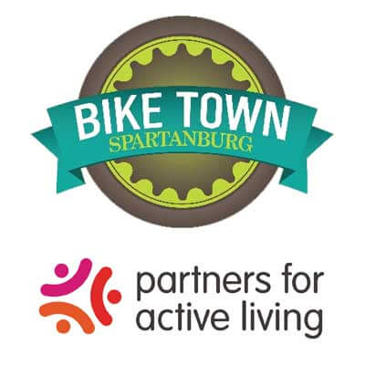 partners for active living logo and bike town usa logo