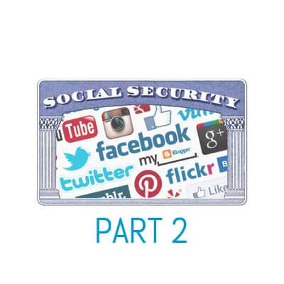 Social Media images on social security card