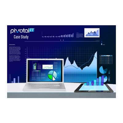 pivotal it case study image blue with graphs