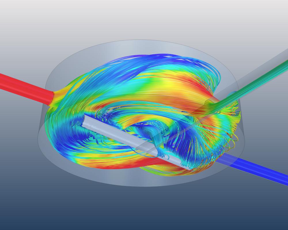 Strömungssimulation der Partikelkonzentration in einem Rührmischer