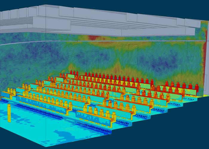 CFD-Strömungssimulation eines Audimax zur Optimierung der Klimatechnik
