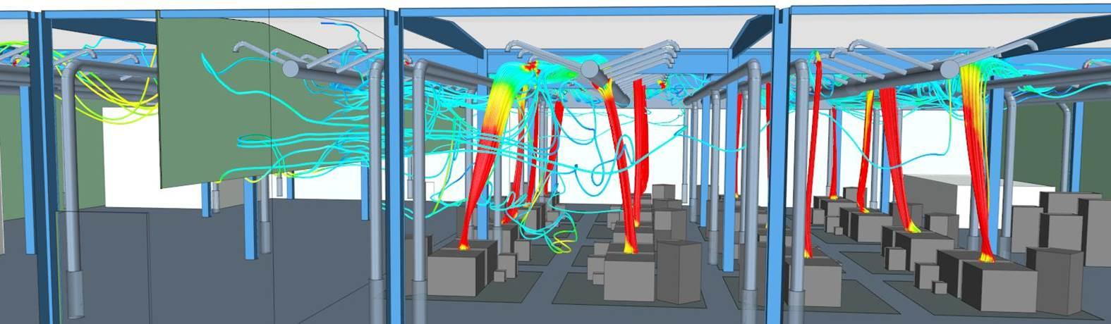 Nachweis mittels Strömungssimulation: Optimierter und effizienter Abzug von Schadstoffen in der Gießereihalle