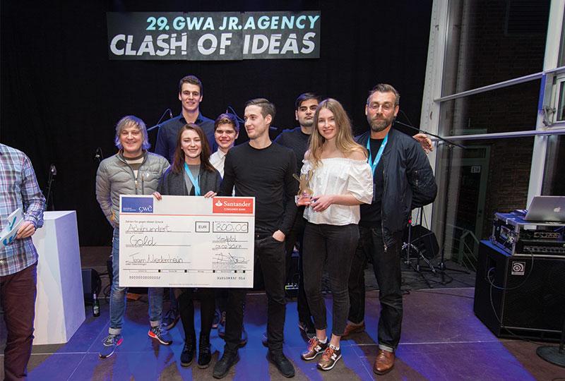 Hochschule Niederrhein und McCANN Worldgroup gewinnen 29. GWA Junior Agency Award